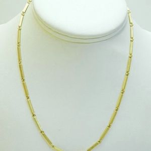 18k Solid Gold Handmade Link Necklace From Greece